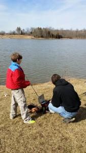 Garrett and Cody Fishing