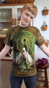 Morgan green shirt