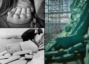 Close-up-of-broken-shackles-on-Statue-of-Libertys-right-foot-Lady-Liberty-axe-chains