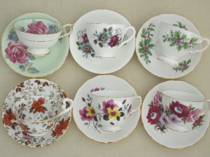 different tea cups