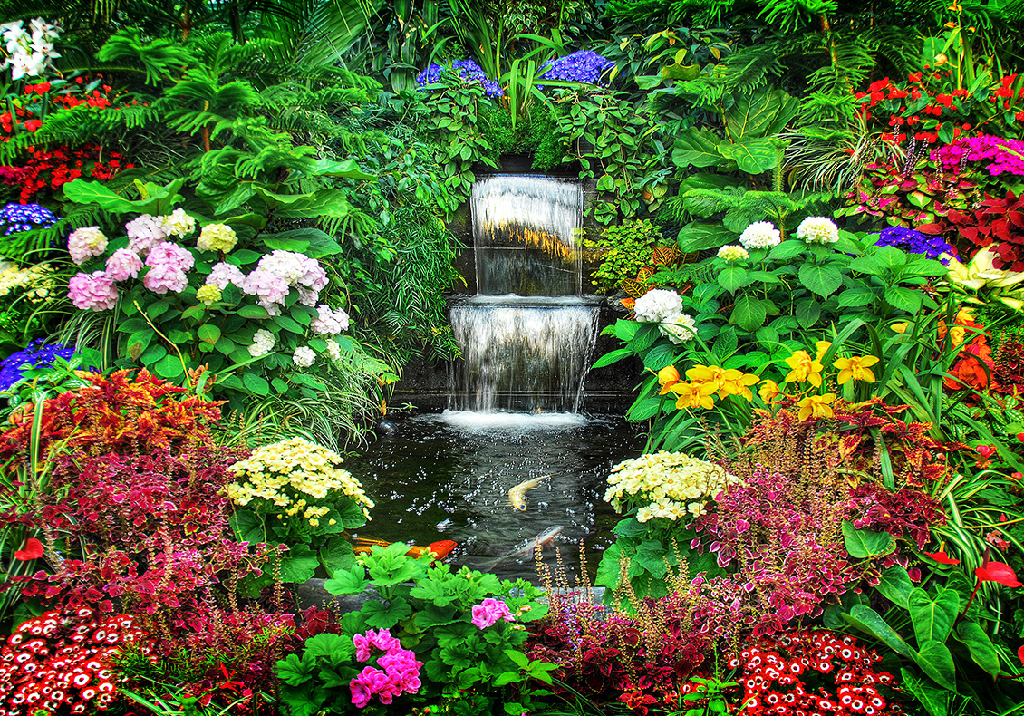Gardens changed by love for Garden waterfall